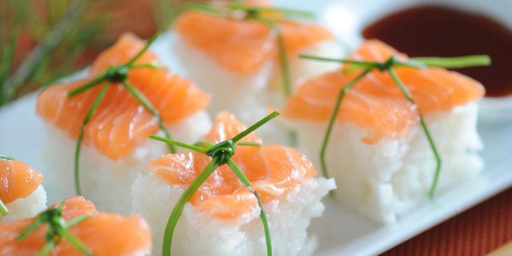 Une touche d'originalité avec des Sushis de Noël