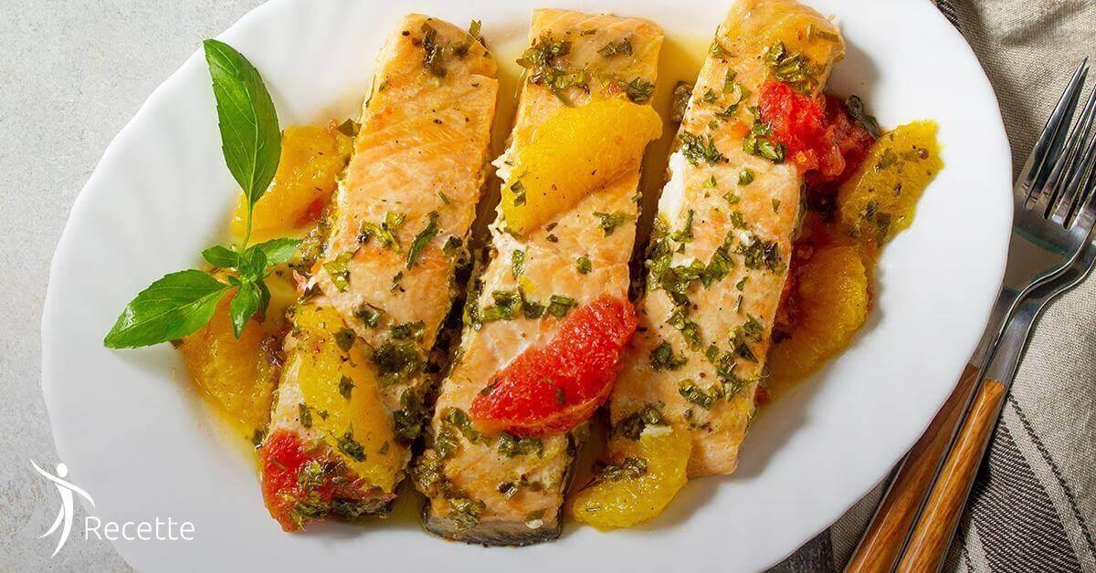 saumon au pamplemousse