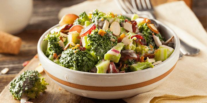 Recette minceur: Salade de brocolis et raisins